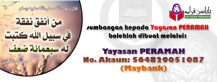 No Akaun Bank Yayasan PERAMAH